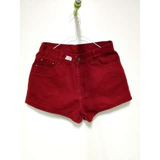 LOOK TREND - Red High Waist Shorts