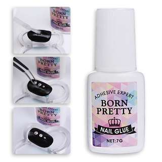 BORN PRETTY Nail Decoration Adhesive Glue 7g Fast-dry for UV/LED Rhinestone Manicure Nail Art Tool NO NEED CURING UV Lamp
