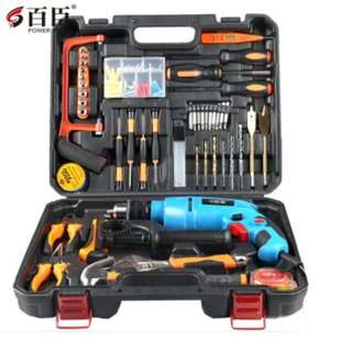 Balson High Quality Household Hardware Toolbox with Drill set