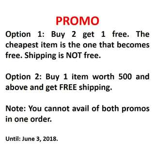 PROMO!!! UNTIL JUNE 3, 2018!