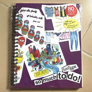 Smiggle colouring / drawing book