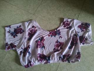 Plus size - Floral Crop Top