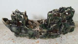 Aquarium Shipwreck Display Set 66x20x31cm