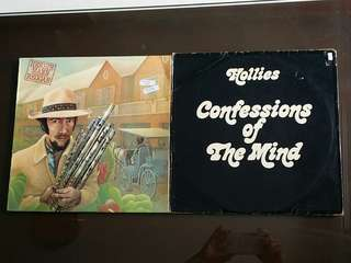 HOLLIES ● HERBIE MANN . confessions of the mind / reggae. ( 2 for the price of 1 )  vinyl record