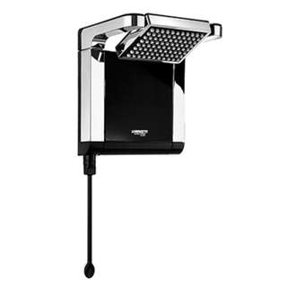 Acqua Star Shower head Ultra Black/Chrome