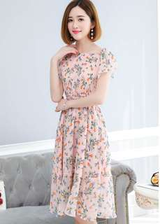 (S - XL) Chiffon Dress