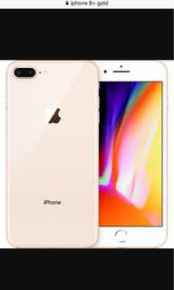 Want to buy Iphone 8 plus 64gb gold space gray red