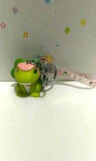 🚚 旅行青蛙造型吊飾 鎖圈