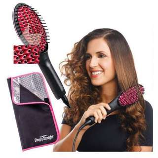 Sale! Ceramic Hair Straightening Brush - Silky Straight Hair