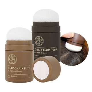 The Face Shop Quick Hair Puff Natural Brown / Dark Brown