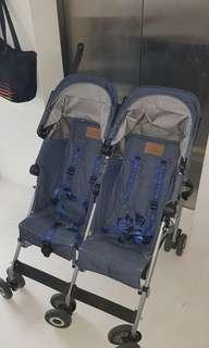 Twin stroller McLaran denim