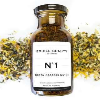 Edible Beauty Green Goddess Detox Tea In Jar