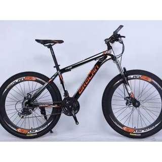 "CROLAN 26"" Sports Rims MTB  / Mountain Bike ★ 24 Speeds, Disc brakes, front suspension ✩ Brand new bicycles"