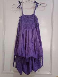 Dress ungu parasut