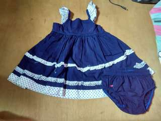 Dress with panty 6-12 months with stain but not very noticeable.