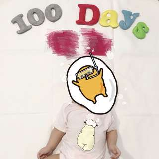 Hand sewn felt prop 100 days