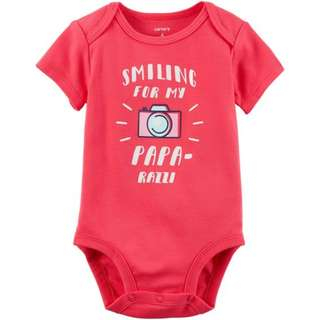 [BNIP] [From US] Carter's Papa-Razzi Collectible Bodysuit (6 months)