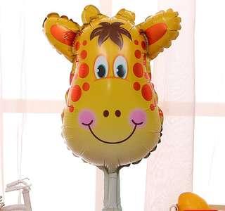 C140 birthday party foil balloon giraffe zoo animal 80-90 cm