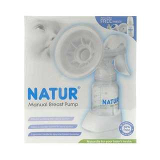 Free BN Bottles with this Natur Manual Breast Pump