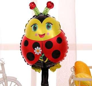 C136 birthday party foil balloon ladybug ladybird zoo 70cm