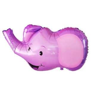 C125 birthday party foil balloon zoo elephant 20-30cm