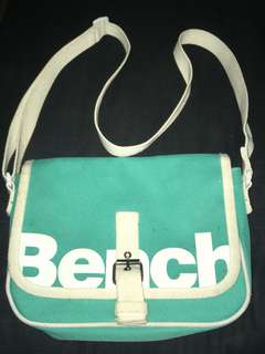 Bench cross-body turquoise purse