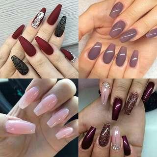 20pcs/Bag Ballerina Nail Art Tips Transparent/Natural False Coffin Nails Art Tips Flat Shape Full Cover Manicure Fake Nail Tips