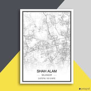 Map Poster (Basic Map Style) - Selling poster only!