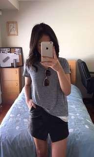 Grey layered shirt