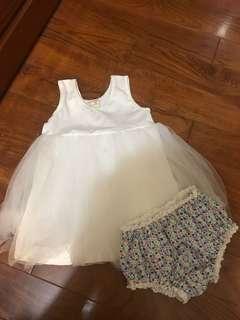 18-24 女童 白色蓬蓬背心裙 紗裙