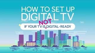 Decoder Digital Box For Non Digital TV.