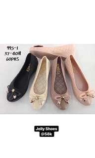 Flatshoes Jelly White Wanita