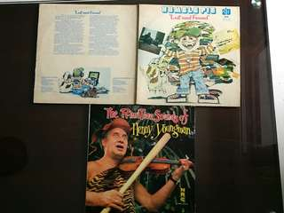 3 LP HUMBLE PIE ● HENNY YOUNGMAN . lost and found / the primitive sounds of ( 3 items for the price of 1 )  vinyl record