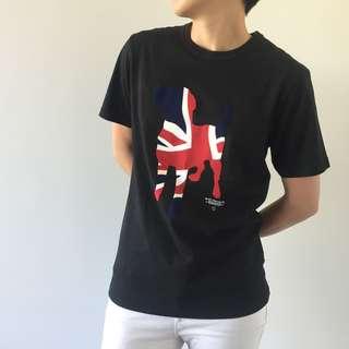CHOCOLATE English Flag Dog Tee