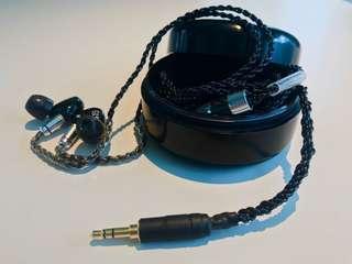 7nocc銅鍍銀升級耳機線3.5mm插頭MMCX(shure westone ue900)