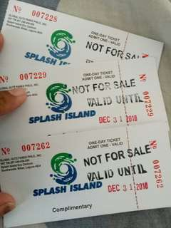 REPRICED! Splash island ticket