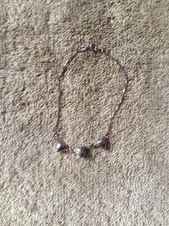 Silver works bracelet