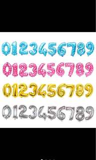 """Number balloon 32"""" and 16"""" for birthday party"""