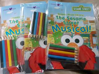 Sesame street colouring book by changi airport
