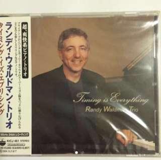 ( King Records ) Randy Waldman Trio - Timing Is Everything ( CD )