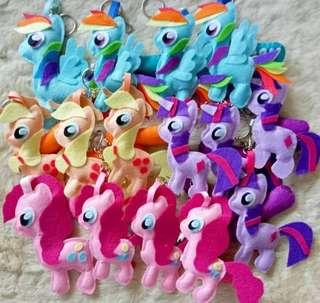 Felt my little pony keychains