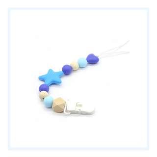 Pacifier Clip - Blue