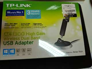 Brand new in box TP-Link AC1300 T4UH USB wireless AC adapter