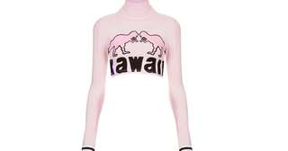 Illustrated people kawaii crop top