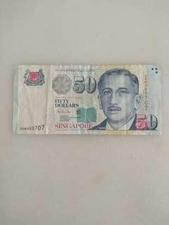 Singapore portrait $50 notes