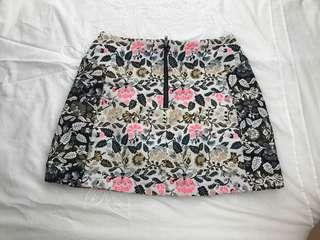 Topshop petite floral skirt