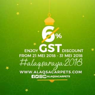 PROMOSI RAYA - WE SAVE YOU SAVE / FREE POSTAGE - 6% GST DISCOUNT