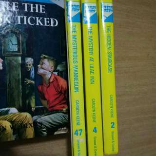 Hard covered Nancy Drew books #2, #4
