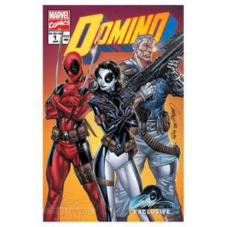 Domino #1 ( J SCOTT CAMPBELL EXCLUSIVE 90'S VARIANT Cover B )