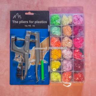 Plastic Rainbow Buttons Tool Set
